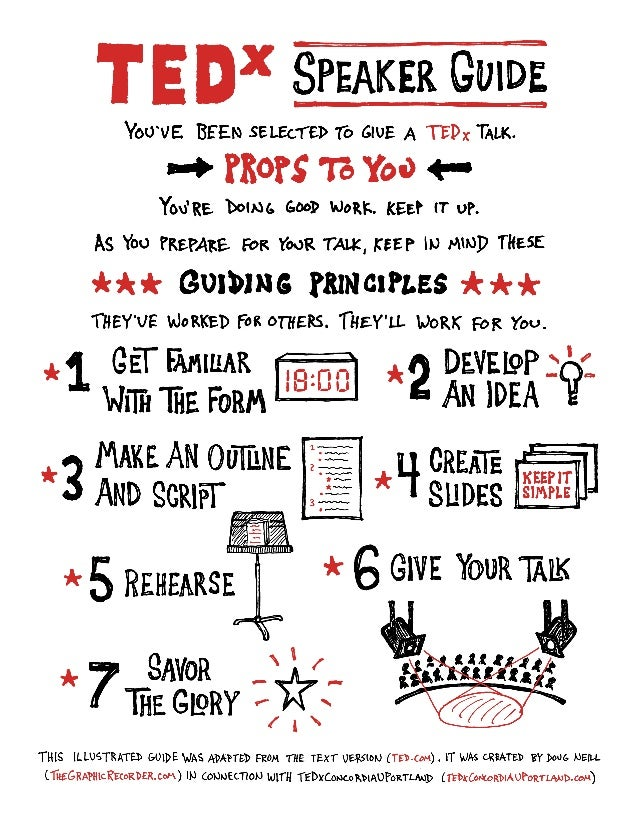 TEDx Speaker Guide (illustrated)