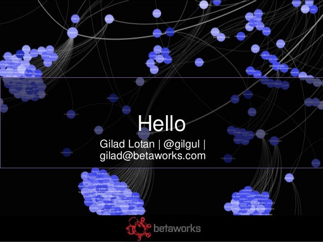 HelloGilad Lotan | @gilgul |gilad@betaworks.com
