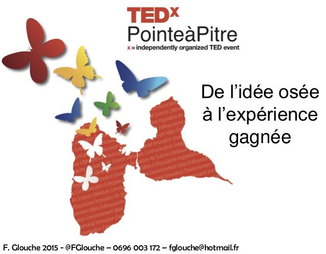 De l'idée osée à l'expérience gagnée F. Glouche 2015 - @FGlouche – 0696 003 172 – fglouche@hotmail.fr