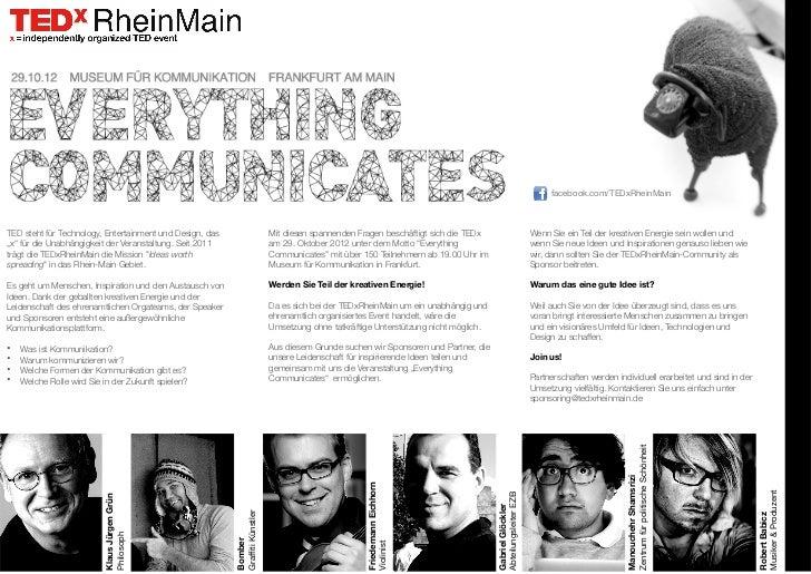 facebook.com/TEDxRheinMainTED steht für Technology, Entertainment und Design, das                      Mit diesen spannend...