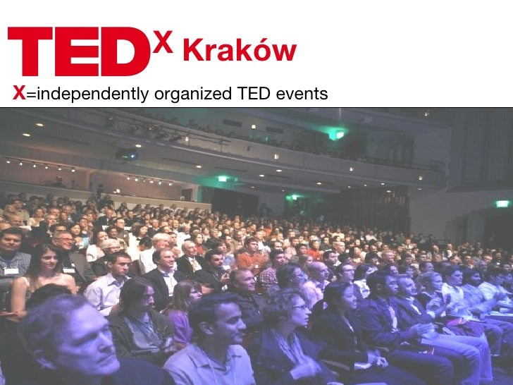 X X =independently organized TED events Kraków