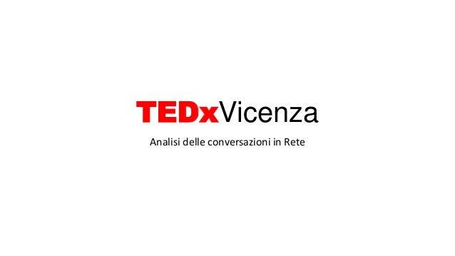 Analisi delle conversazioni in Rete TEDxVicenza