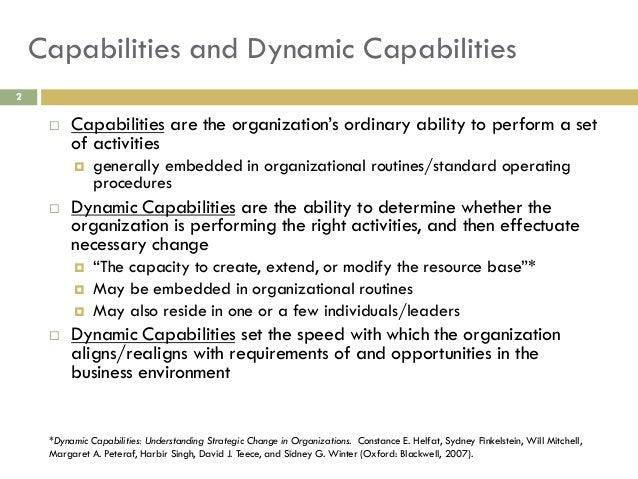 Teece dynamic capabilities-routines-versus_entrepreneurial_action_ppt Slide 2
