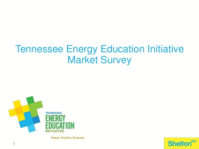 Tennessee Energy Education Initiative Market Survey  July 17, 2013  1