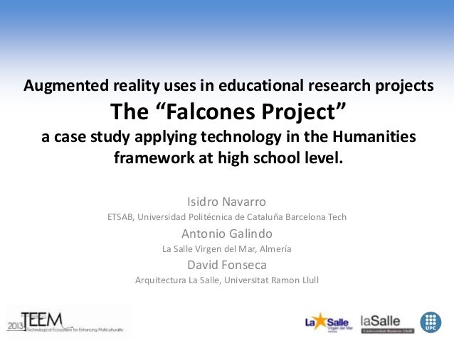 """Augmented reality uses in educational research projects  The """"Falcones Project"""" a case study applying technology in the Hu..."""