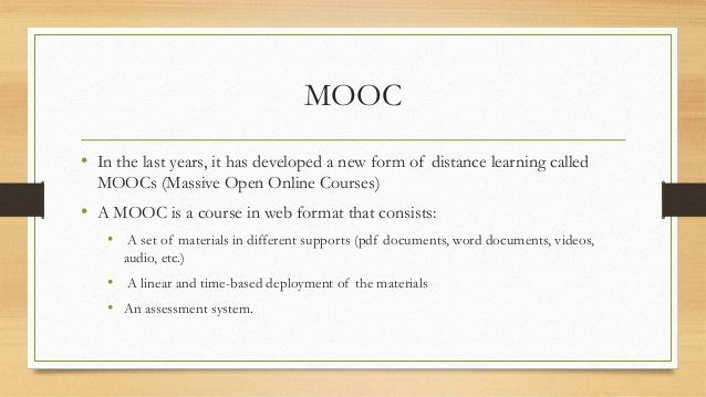 Development of a MOOC Management System Slide 2