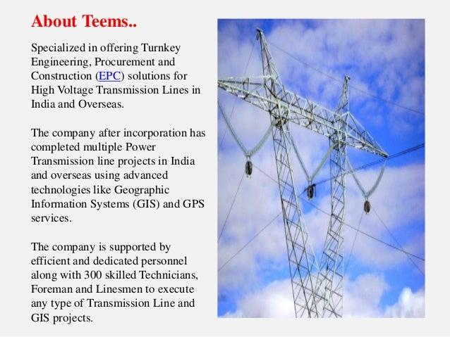 International Transmission Line Contractors - Teems india