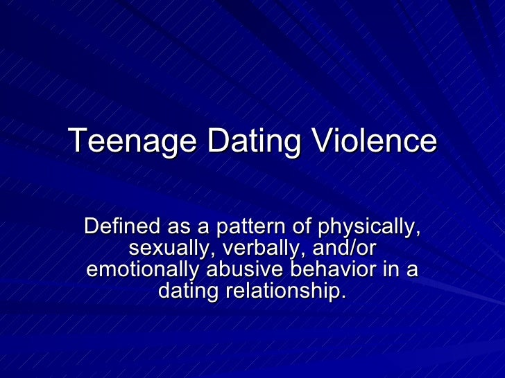 Definition of teenage dating