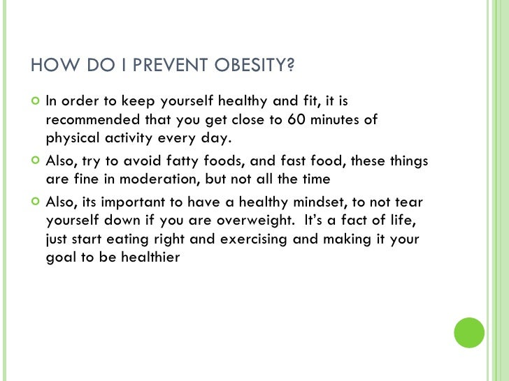 How to prevent obesity essay