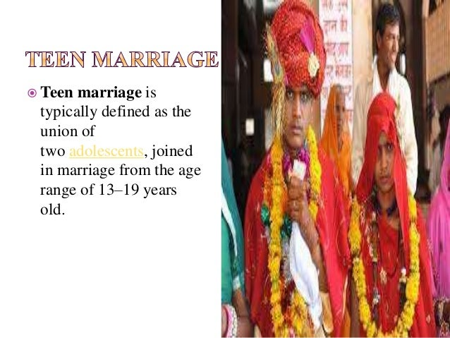 what is teenage marriage
