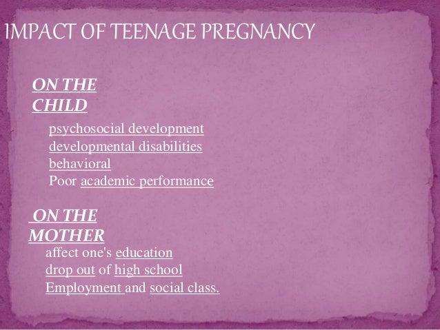 Teenage pregnancy....