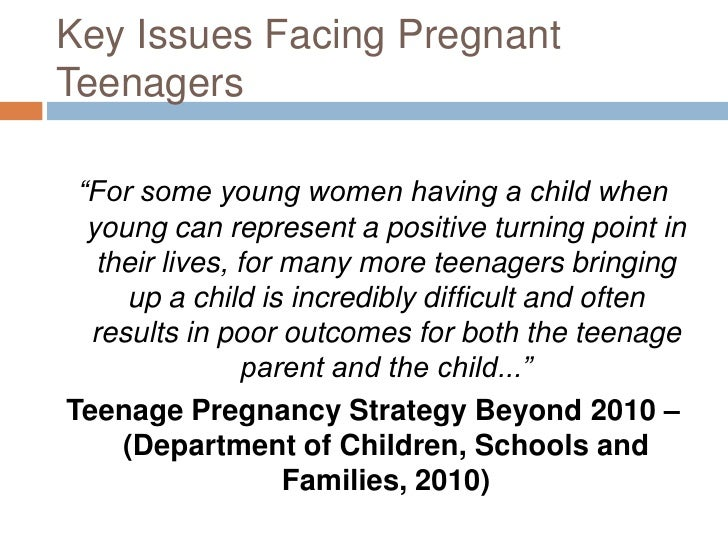 Causes and effects of teen pregnancy essays