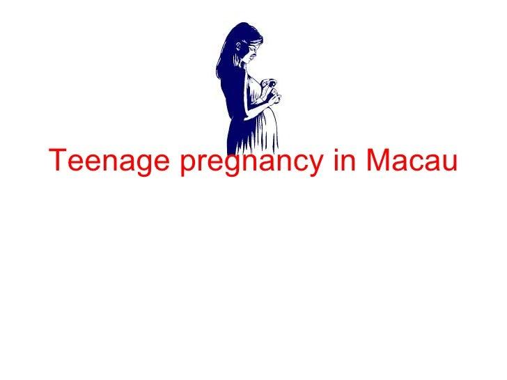Teenage pregnancy in Macau