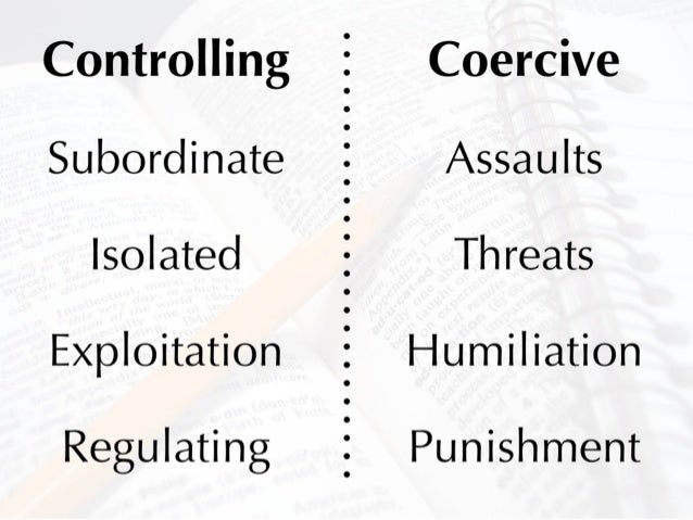 Sexually Coercive Behavior Definition