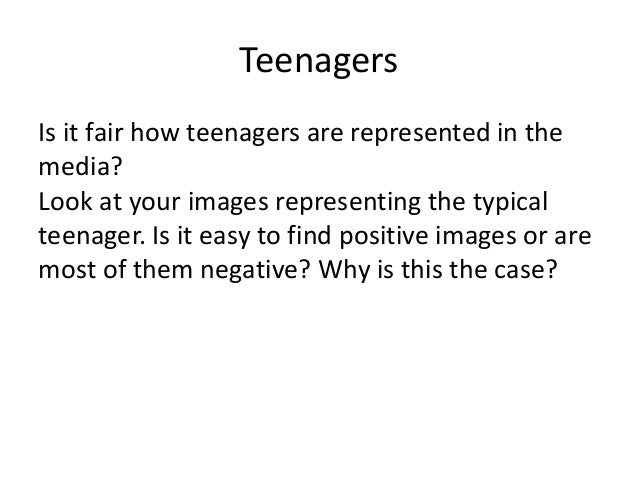 stereotypes about teens When parents expect their teenagers to conform to negative stereotypes, those  teens are in fact more likely to do so, according to new research.