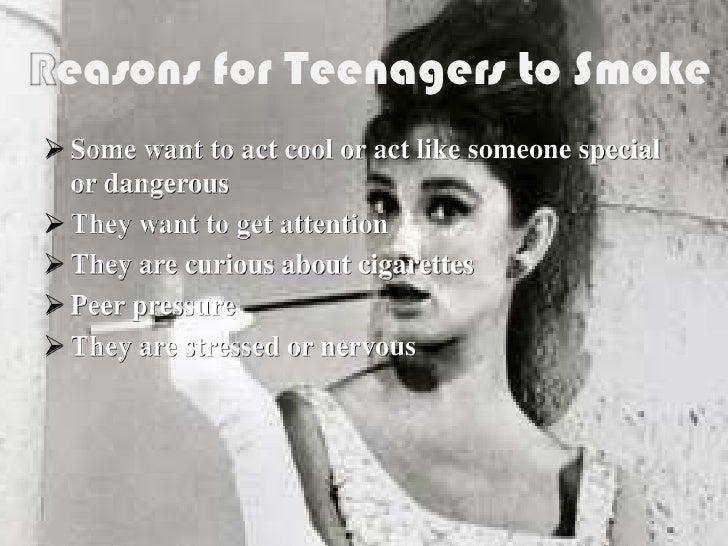 Peer Pressure With Smoking