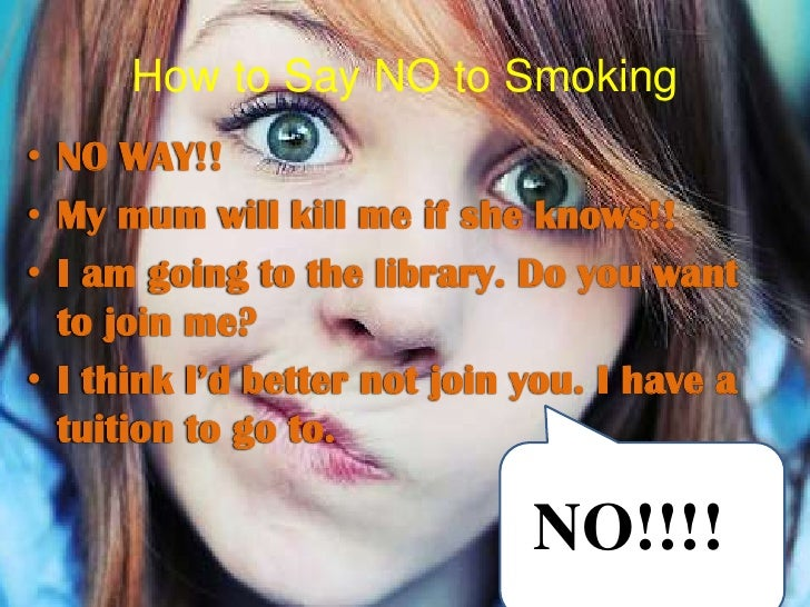Essay on say no to smoking