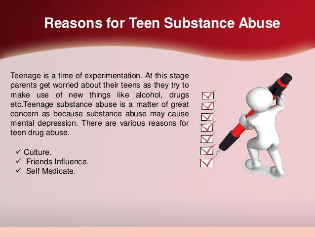 Cause of teen drug abuse