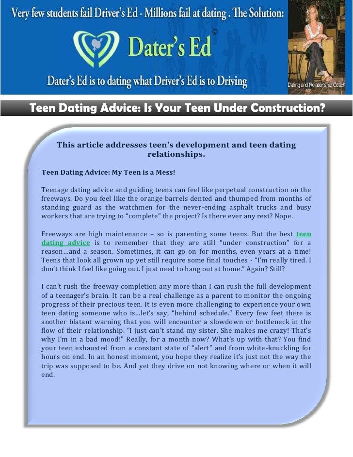 Advice Teen Dating 90