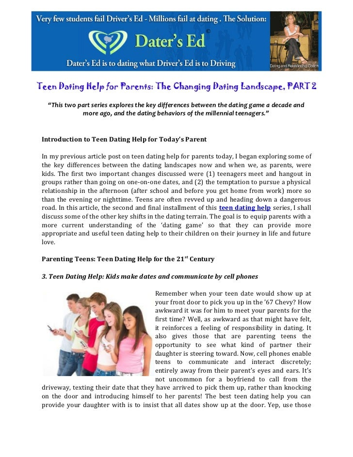 parental advice for teenage dating contract