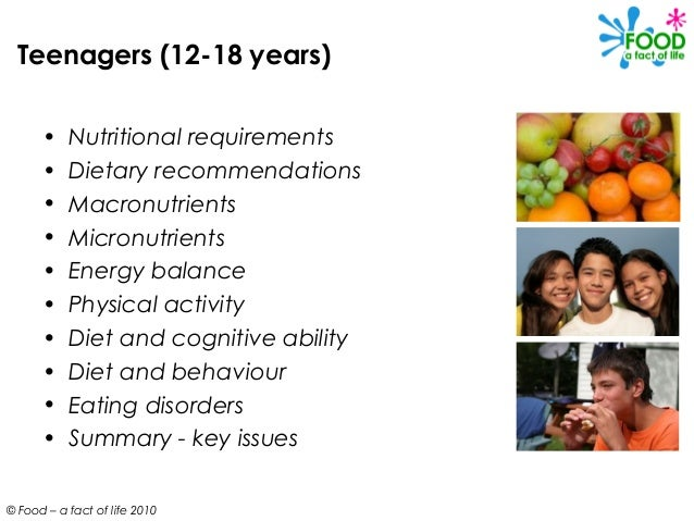 Teen diets, nutrition and health
