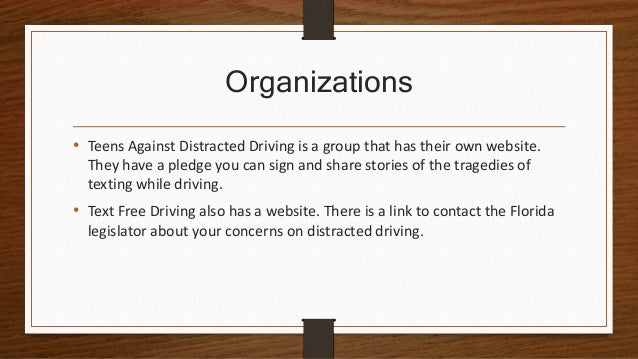 teen driving project Distracted driving includes anything that takes the driver's attention away   driving high-visibility enforcement demonstration projects in  teen distracted  driver data (2015) traffic safety facts: distracted driving (2015.