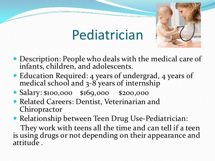 types of pediatrician specialties