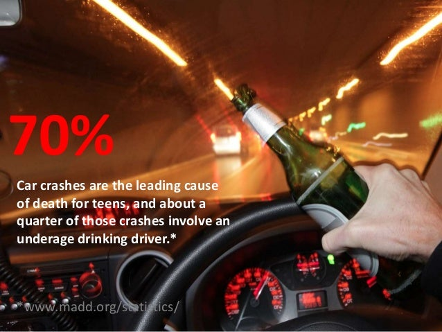 teenage drinking and driving Teenage driver crash statistics the relationship between age and driving behavior has interested highway safety researchers and administrators for many years.