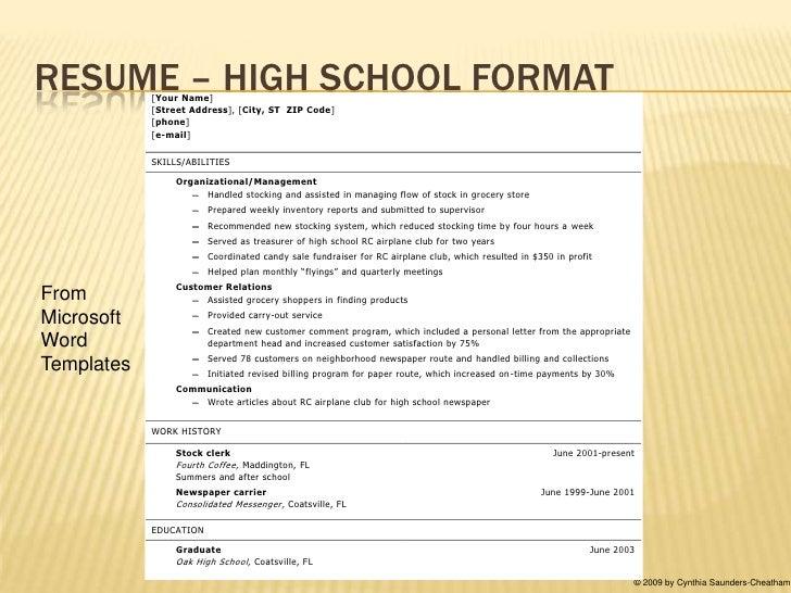 RESUME ...  Sample Resume For Teenager