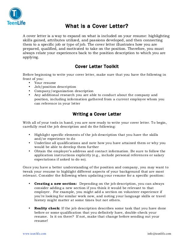 Guide To Student Cover Letters February 2011; 2.  Elements Of A Good Cover Letter
