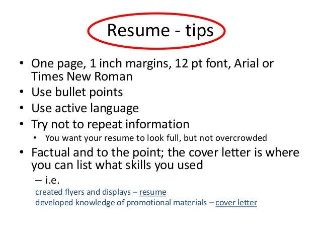 Resume ...  Margins For Resume