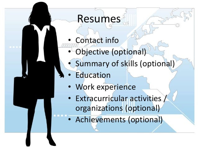 resumes contact
