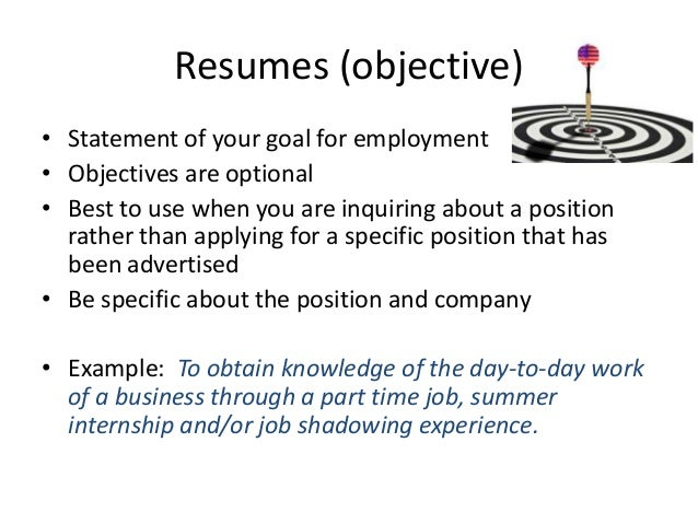 good cv objectives