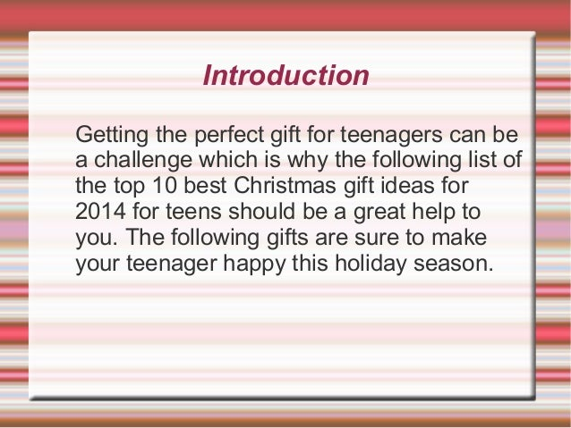 Top 10 gifts for christmas for teen