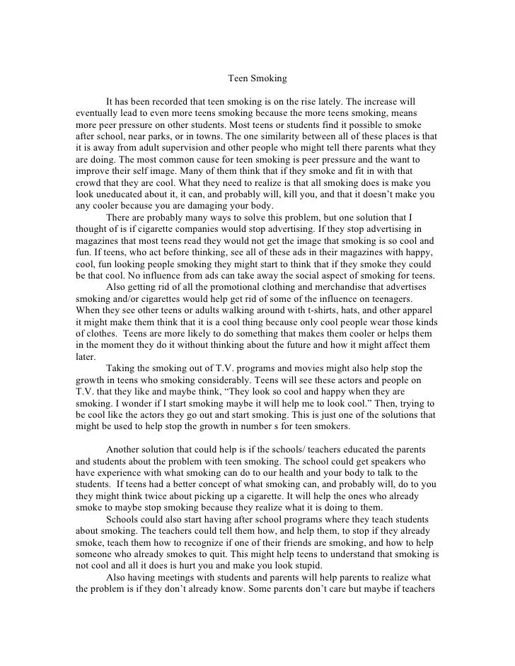 Argument essay smoking