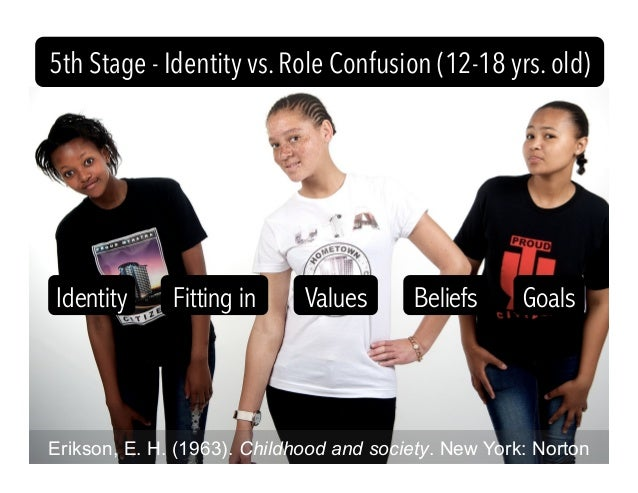 Erikson, E. H. (1963). Childhood and society. New York: Norton 5th Stage - Identity vs. Role Confusion (12-18 yrs. old) Id...
