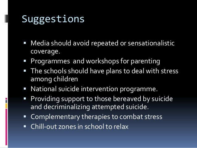 a study on teenager suicide In this lesson, you will learn about statistics and facts concerning teen suicide in the united states you will also learn some strategies to.