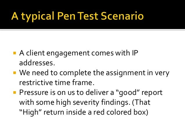    A client engagement comes with IP    addresses.   We need to complete the assignment in very    restrictive time fram...