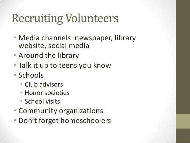Teen volunteers making a library volunteer program work for you recruiting volunteers thecheapjerseys Gallery