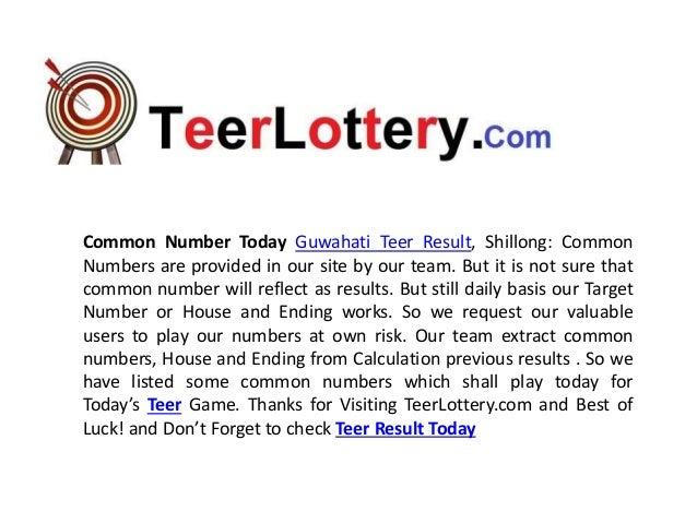 Teer common numbers teer lottery