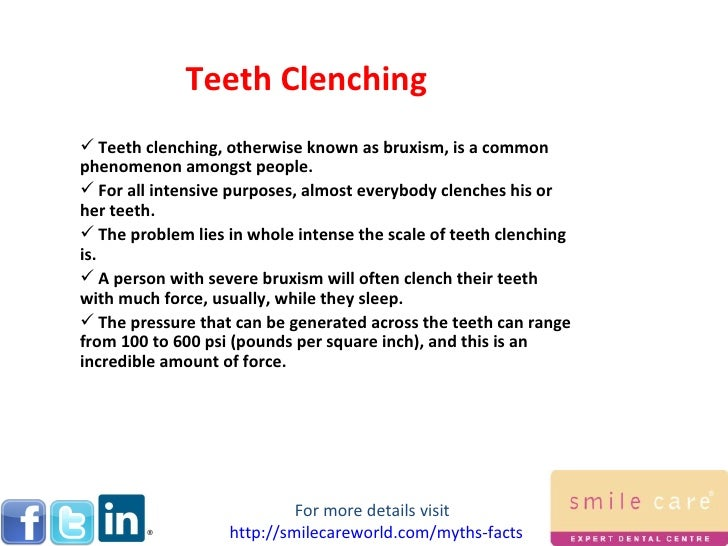 how to stop clenching teeth