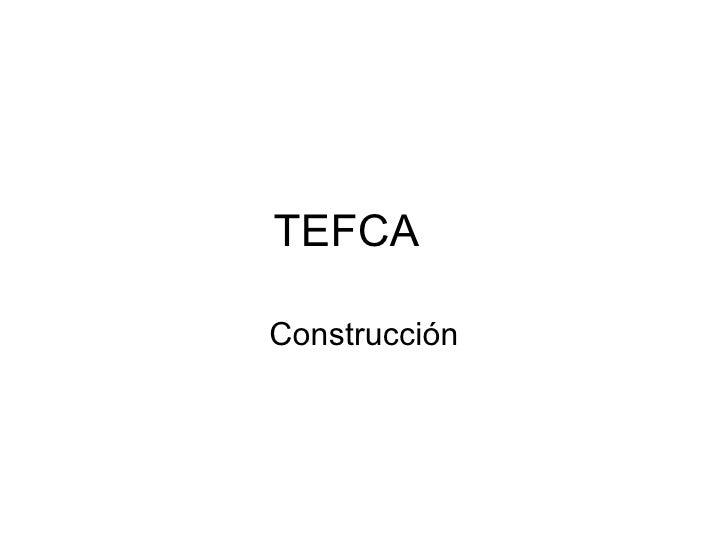 TEFCA Construcción