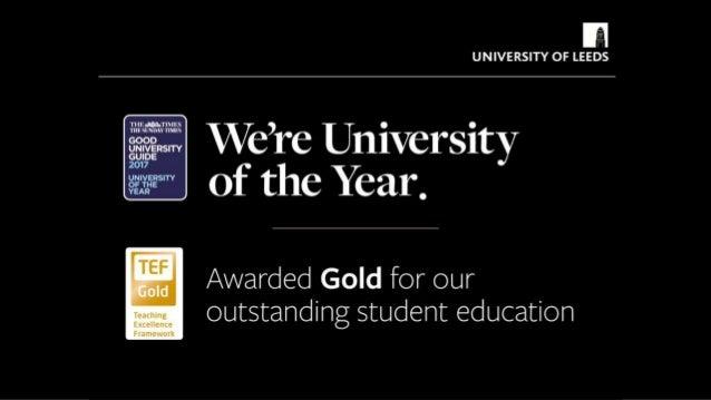 Gold status for University of Leeds - Teaching Excellence Framework