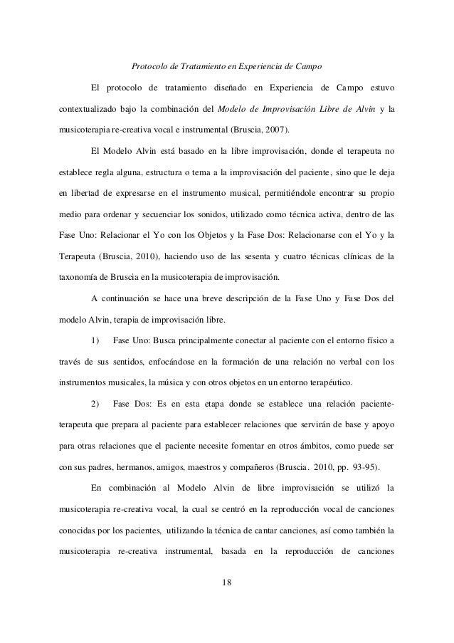 TAXONOMÍA DE TÉCNICAS, MÉTODOS Y MODELOS DE MUSICOTERAPIA APLICADOS E…