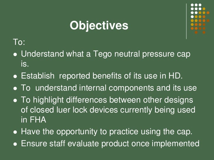 Using The Tego Connector In Fha Renal Program