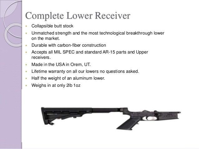 The World's Strongest Carbon Fiber AR-15 Lower