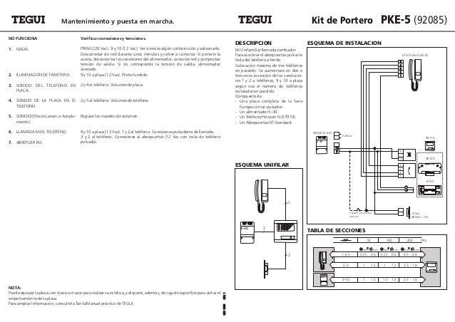 Tegui portero pk5 92085 for Instalacion portero automatico tegui