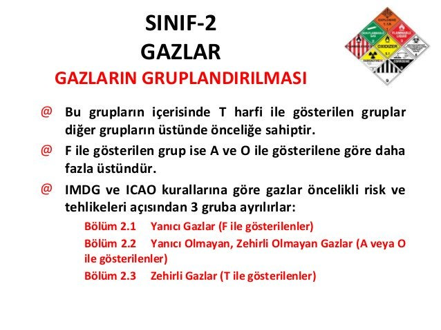 SINIF-2 GAZLAR GAZLARIN GRUPLANDIRILMASI @ Bu grupların içerisinde T harfi ile gösterilen gruplar diğer grupların üstünde ...