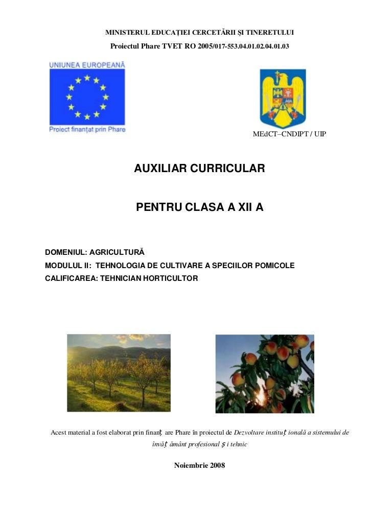 MINISTERUL EDUCAŢIEI CERCETĂRII ŞI TINERETULUI                       Proiectul Phare TVET RO 2005/017-553.04.01.02.04.01.0...