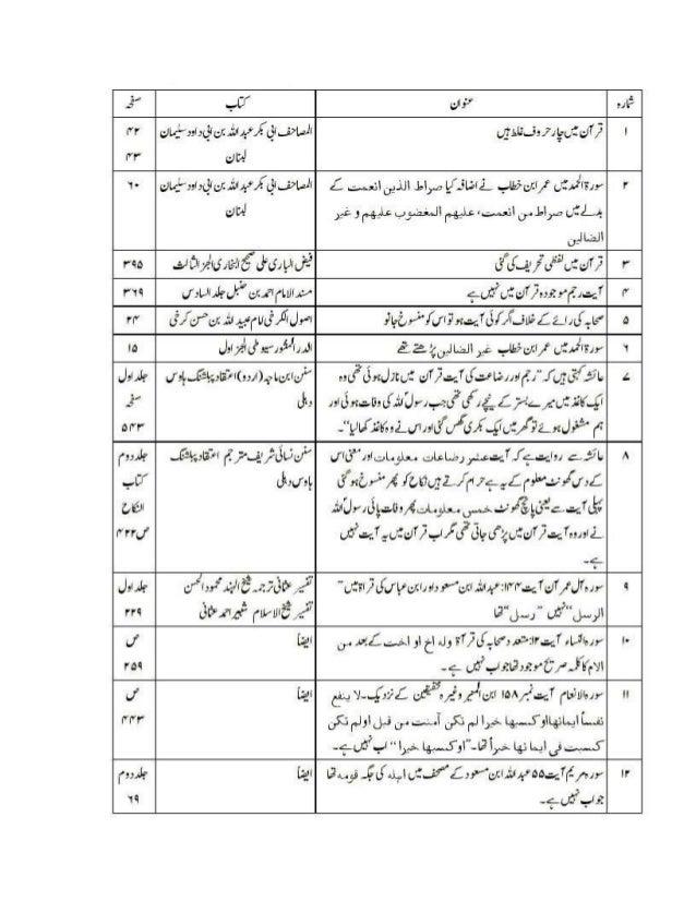 1. Tafseer-e-Quran Al-Etteqaan-e-Mustafa AlHalbi pt-1 page 70, According to thisreferred book, Hazarat Umer affirms that t...
